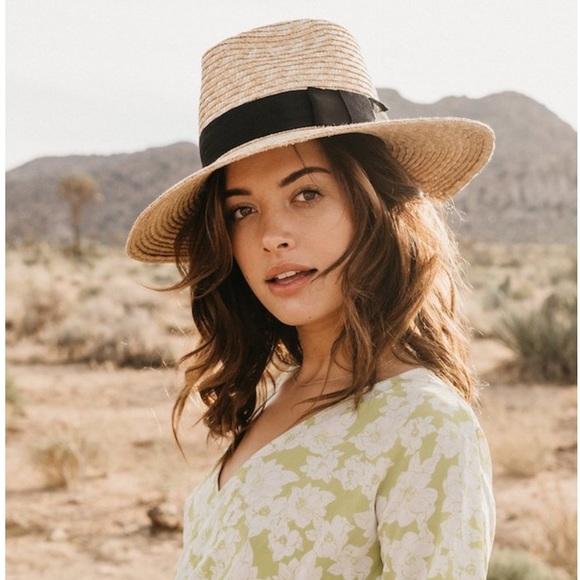 4e5979ec7f1c0 Brixton Accessories - NWOTs BRIXTON Joanna Straw Honey Hat